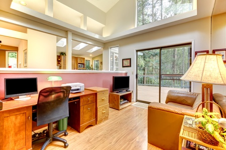 Large home office interior. photo
