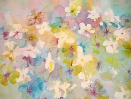 Soft abstract painting of flowers. Stock Photo - 13102852