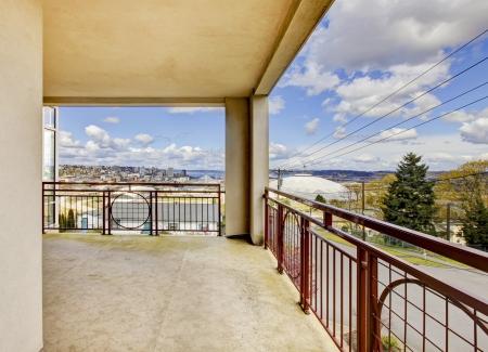 tacoma: Apartment balcony view on the Tacoma Dome.