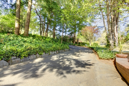 Private driveway with spring landscape. Stock Photo - 14615305