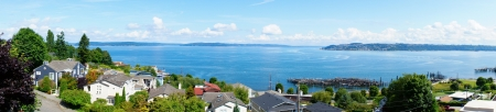 puget sound: Tacoma, WA. American town on the Puget Sound.