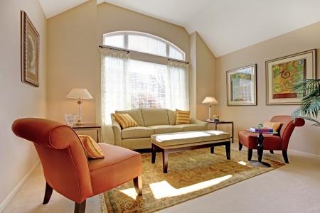classic living room: Beautiful classic living room with elegant furniture.