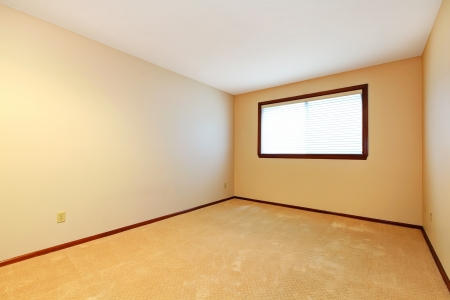 Empty room with beige carpet and window  Stock Photo - 16306543