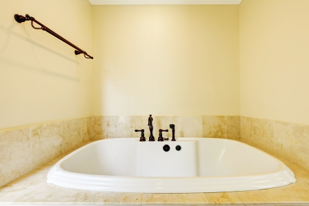 Nice new empty bathroom with large white tub Stock Photo - 17056382