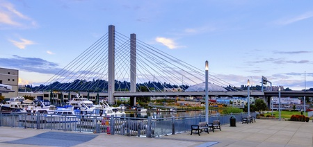 tacoma: Tacoma downtown near port and Glass Museum, Washington State
