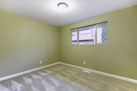 Empty new bedroom with green walls interior  American house  Stock Photo - 17869708