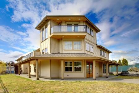 Large New luxury home exterior with balconies, three floors. Stock Photo - 18283878