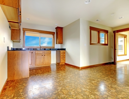 remodeled: Small kitche in mother-in-low apartment above garage.  New luxury home interior.