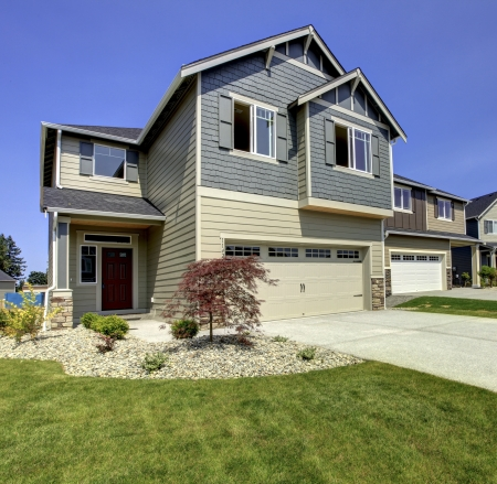 Typical American midclass new development house exterior. Stock Photo - 21728633