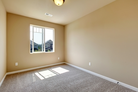 New empty room with beige carpet.. New house development in USA. Stock Photo - 21728646