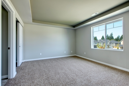 New empty room with beige carpet.. New house development in USA. Stock Photo - 21728653