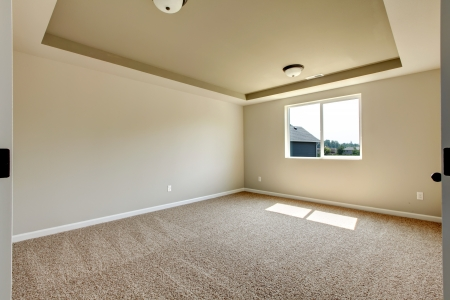 New empty room with beige carpet.. New house development in USA. Stock Photo - 21728654