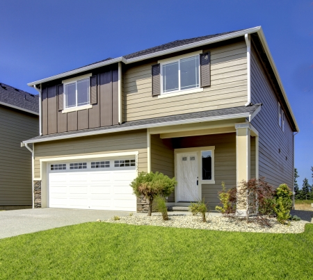 Typical American midclass new development house exterior. Stock Photo - 21728919