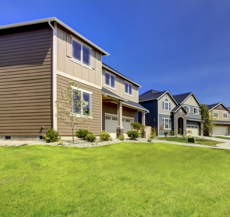 Typical American midclass new development house exterior Stock Photo - 21728921
