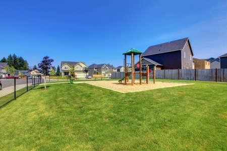Small yard of new construction in American new development Stock Photo - 21728923