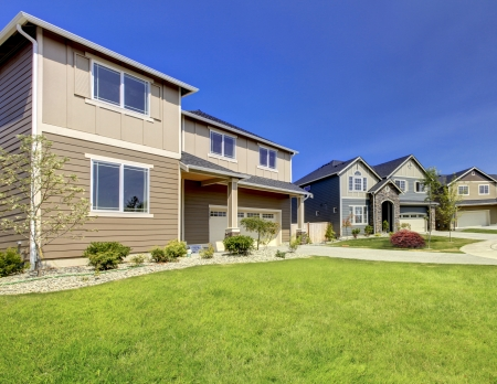 Typical American midclass new development house exterior  Stock Photo - 21728933