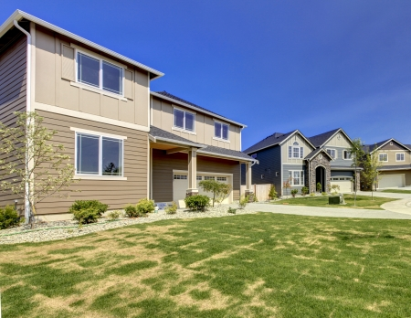 Typical American midclass new development house exterior Stock Photo - 21728934