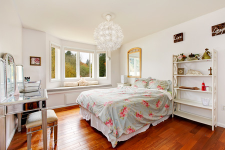 interior bedroom: Light tones bedroom Stock Photo