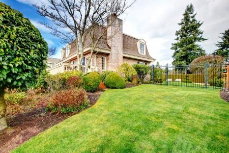 fenced: Wonderful brick house with fenced backyard garden