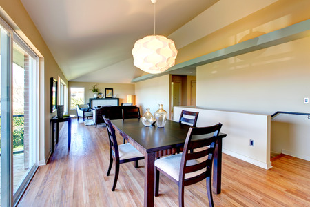 Open plan living room and dining area photo