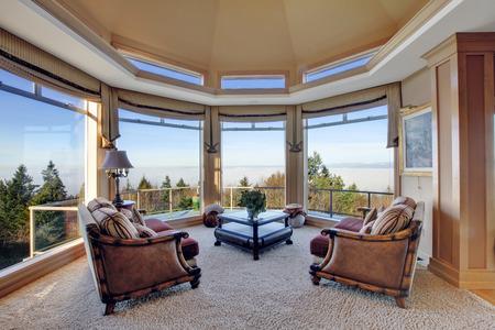 Luxury room with amazing window view photo