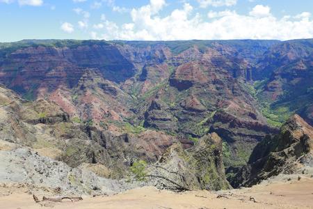 memorable: Picturesque and amazing view of  Waimea Canyon, Hawaiian islands.