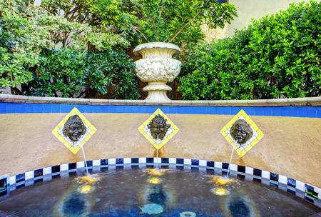 balboa: Historical Balboa park  Close up view of fountain  Stock Photo