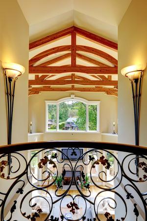 Luxury house with wrought balcony Stock Photo
