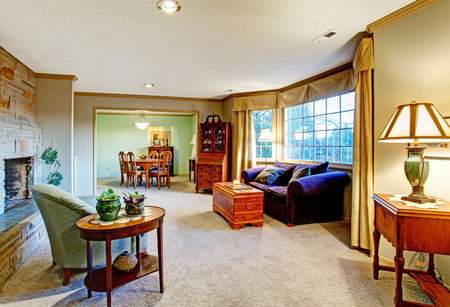 open floor plan: Open floor plan  Living room with dining area