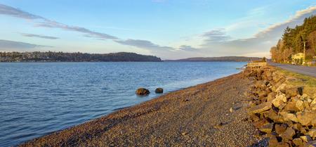puget sound: Port Orchard, WA Bay Street view lungomare di Puget Sound