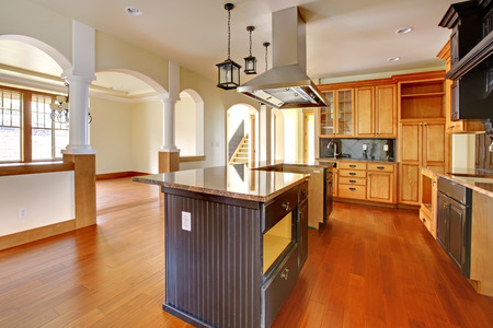 residential homes: New construction luxury home interior Kitchen with beautiful details