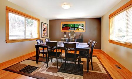 designer chair: Golden warm beautiful kitchen  Stock Photo