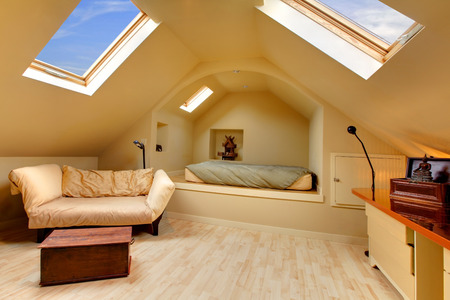 attic: Cozy velux room with comfortable armchair