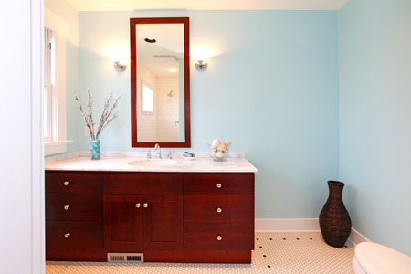 New beautiful bathroom in a small cute old house