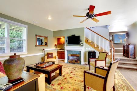 Luxury living room interior design. photo