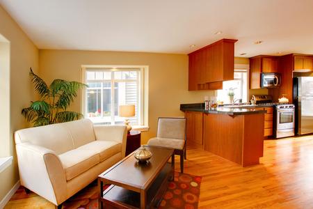 open floor plan: House interior  Open floor plan, living room