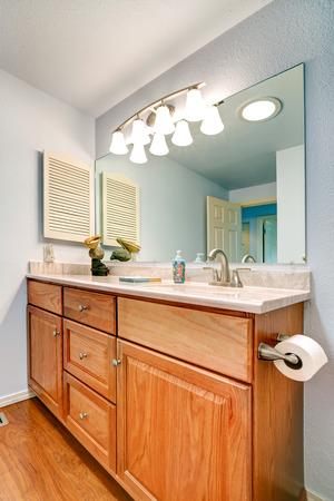 bathroom mirror: Bathroom vanity cabinet with mirror and lights