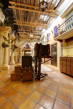 batallón: Exponer en Mormon Battalion Lugar histórico, casco antiguo de San Diego. California