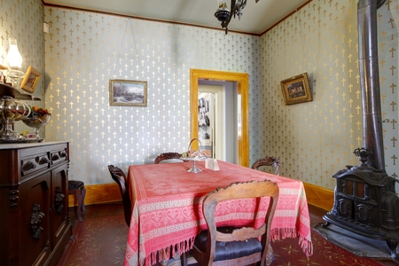 Room in Whaley House Museum, old town of San Diego