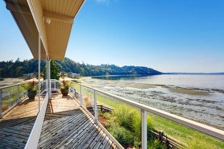screened: Luxury house with walkout deck overlooking private beach and  Puget Sound view in Burien, WA