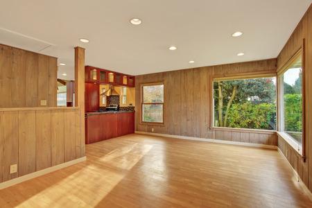 nice living: Nice living room with hard wood floor and windows.