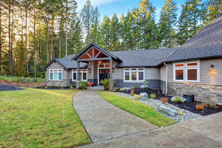 Beautiful large house with driveway, and garage.
