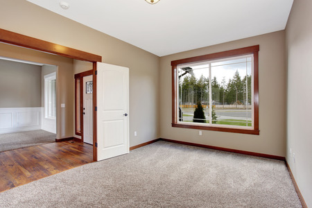Simple empty room with space and nice carpet.