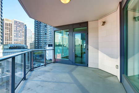 unfurnished: Nice unfurnished balcony Stock Photo