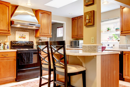 dinning room: Brilliant kitchen and dinning room with tile floor.