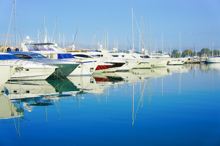 littoral: Antibes, France - October 17, 2011: Port of Antibes on the mediterranean sea in southeastern France