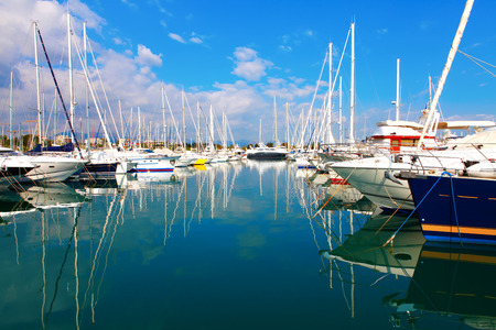 littoral: Port of Antibes on the mediterranean sea in southeastern France