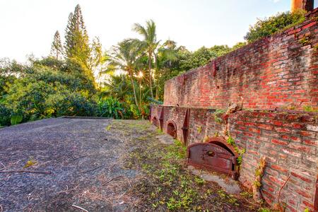 historical building: Historical sugar factory  Maui, Hawaii. Old sugar plant  building