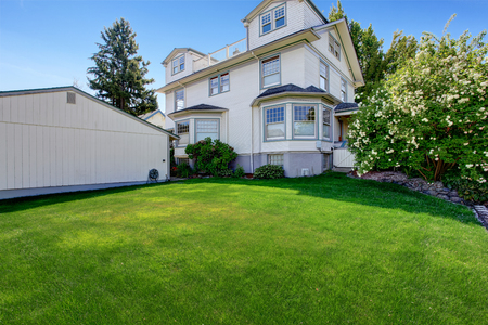 large house: Beautiful large house with backyard large green lawn