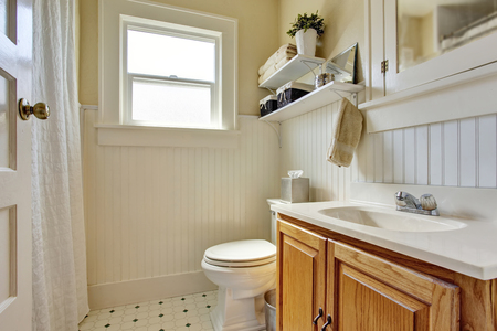 Bathroom Design In Creamy Colors With Brown Wooden Cabinet And Delectable Bathroom Design Colors Property
